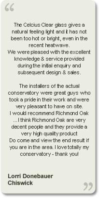 Hardwood Conservatories Testimonials